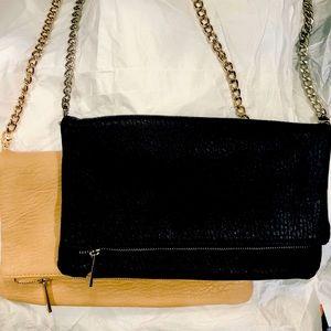 Set of EXPRESS Clutch Shoulder Bag Purse Foldover